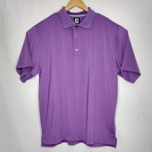 FJ FootJoy Large Purple Short Sleeve Golf Polo